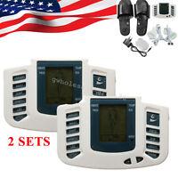 Digital Stimulator Massager Body Relax Pulse Acupuncture +slipper 2 Sets Us Ship