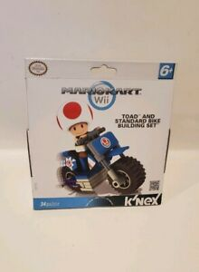 K'NEX Nintendo Mario Kart Wii Toad Kart Bike Building Set 34 Piece New sealed