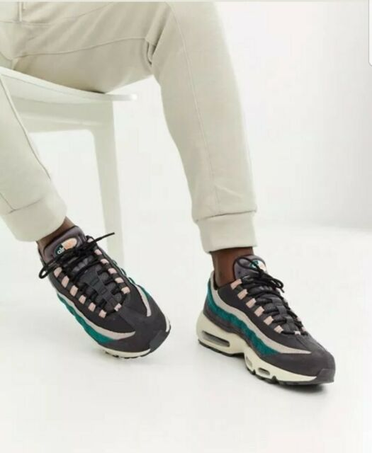 NIKE Homme AIR MAX 95 Premium Huile GrisBright Mango Trainers UK 7EU42