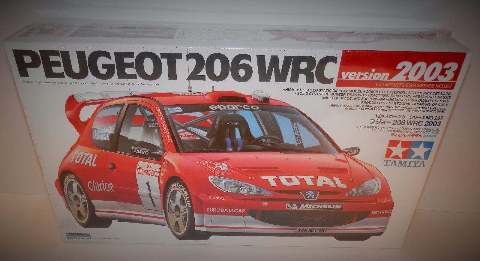 Tamiya 1 24 Peugeot 206 WRC Version 2003 NIB