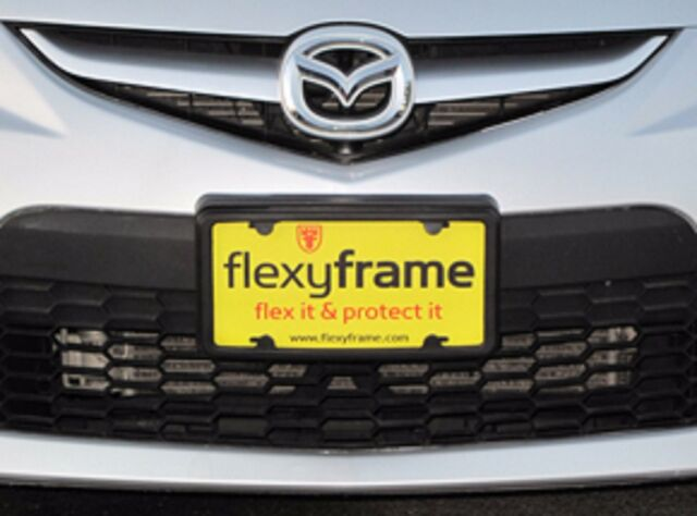 A NASA-like Rubber License Plate Bracket Frame Mounting Guard Bumper for FORD