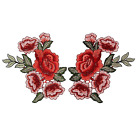 2x Embroidery Rose Flower Sew On Patch Badge Bag Jeans Dress Applique Crafts DIY