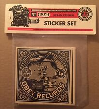 Shepard Fairey Print Obey Giant Album Cover Sticker Pack Set of 9 2011 KAWS