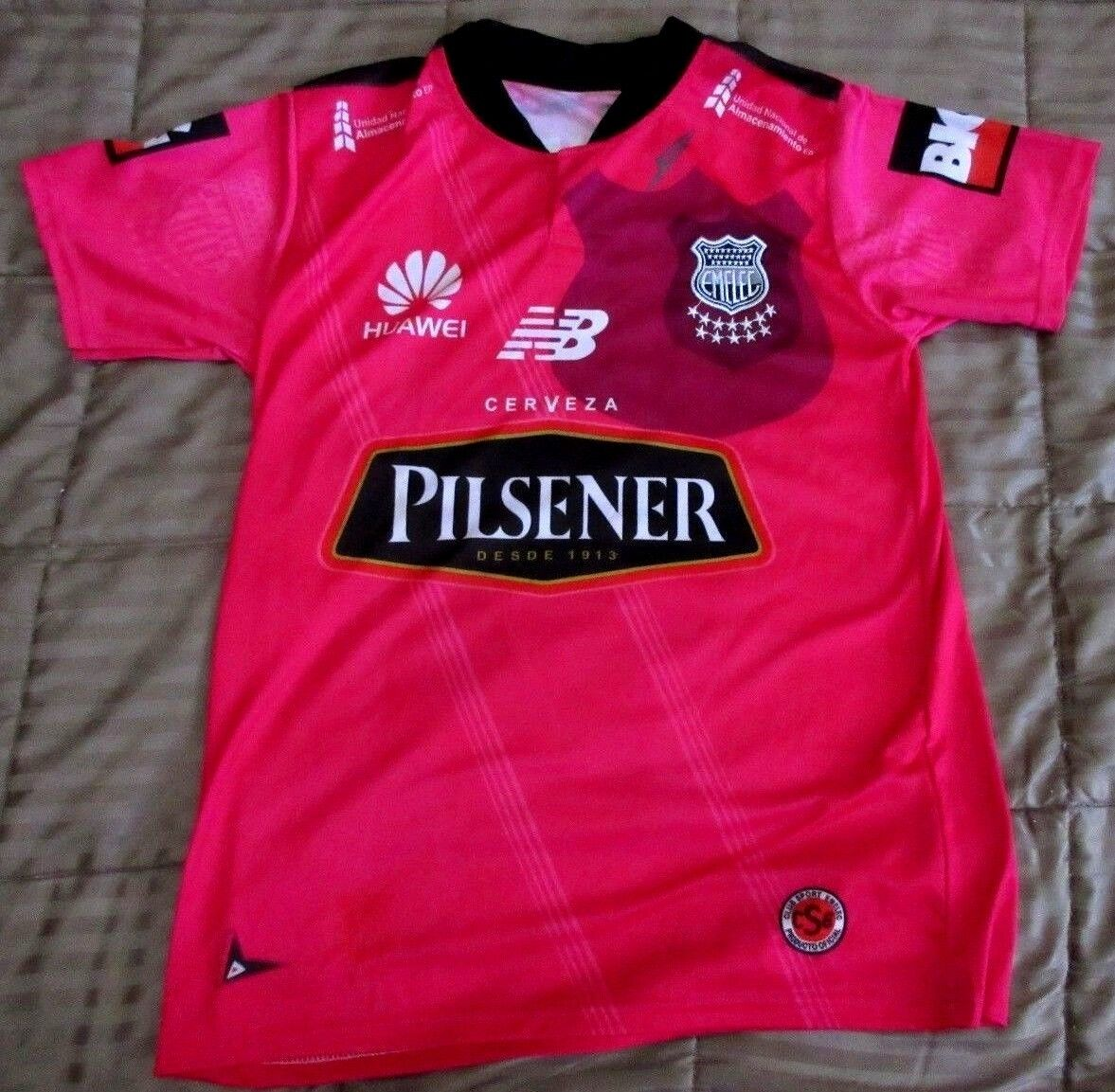 Emelec Giancola 9 Club Sport Emelec Carmine Red Jersey  Small