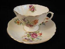 HAMMERSLEY BONE CHINA TEA CUP & SAUCER SET FLORAL SPRAYS PERFECT ENGLAND
