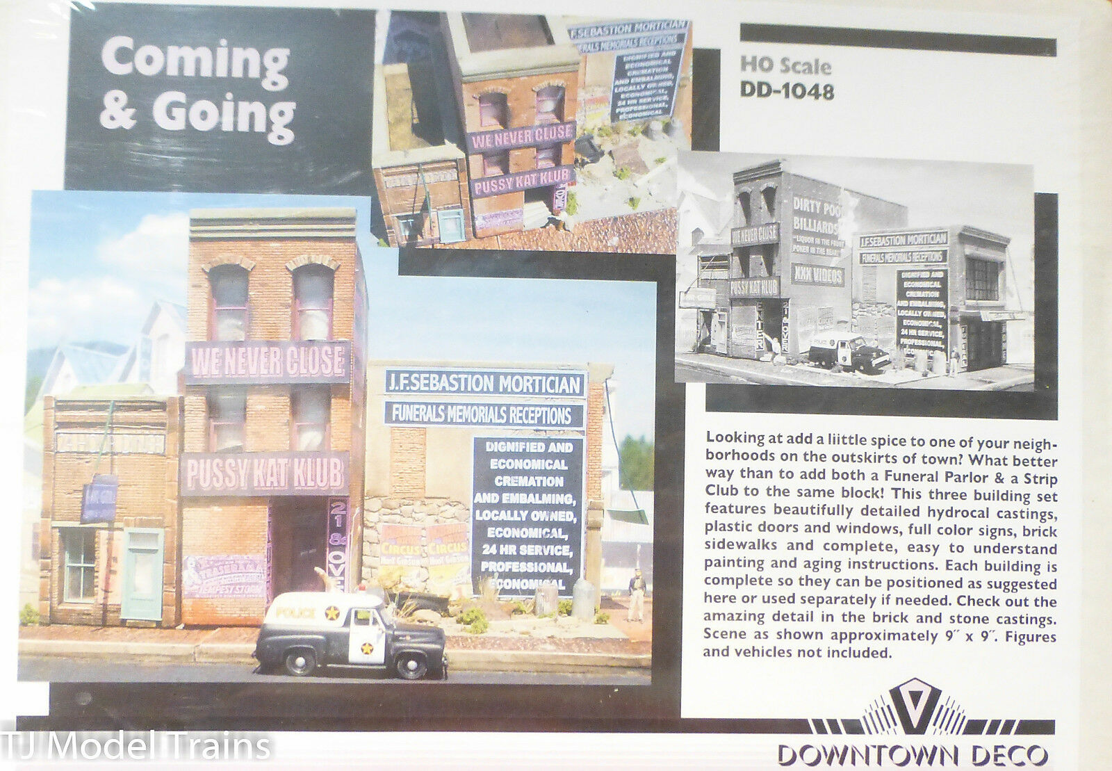 Downtown Deco HO  1048 Coming & & & Going (Building kit) Plaster Kit d914ff