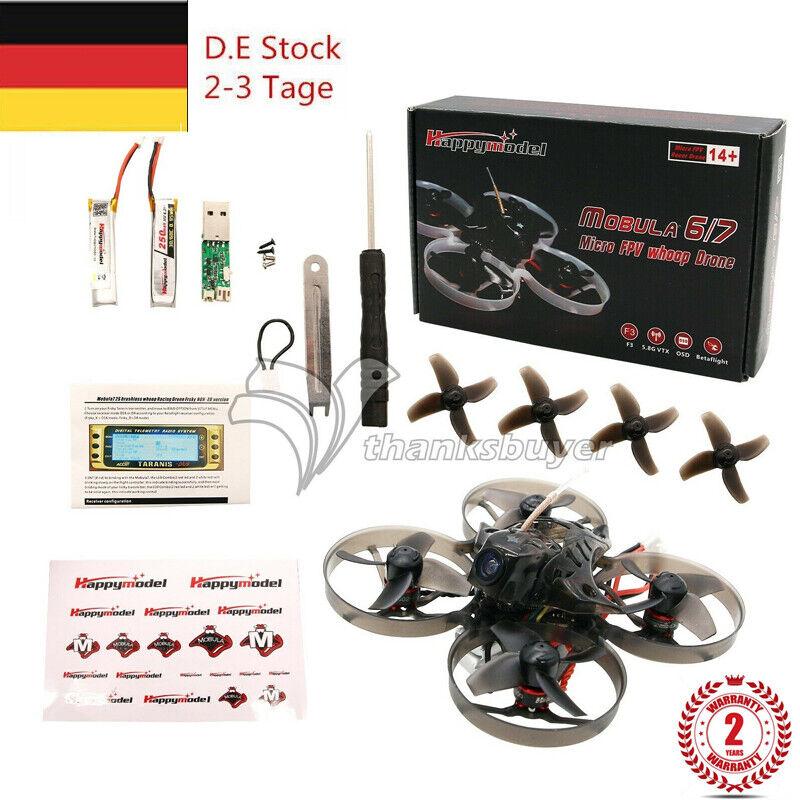 Mobula 7 FPV RACING Drone Quad crazybee F3 Pro 75mm BNF OSD 2S dan por FrSky de la UE