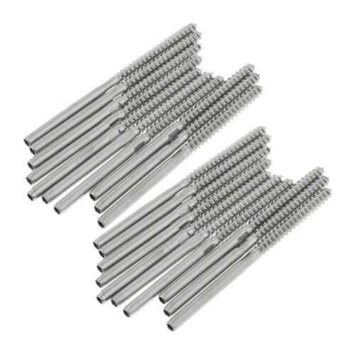 """20pcs Stainless Steel Stud Swage End Screw Cable Railing for 1//8"""" Cable"""