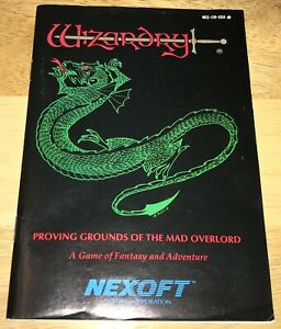 WIZARDRY-Nintendo-NES-Adventure-Game-INSTRUCTION-BOOKLET-Manual-ONLY-1990-NEXOFT