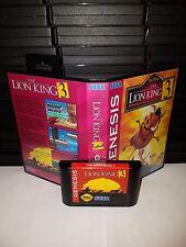 The Lion King 3 - Video Game for Sega Genesis! Cart & Box!