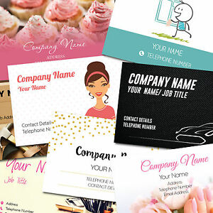 Personalised business cards customise create your own design ebay image is loading personalised business cards customise amp create your own colourmoves
