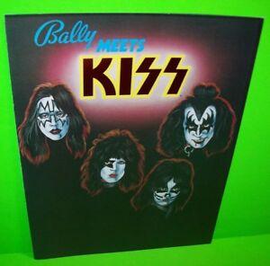 Kiss-Pinball-FLYER-Original-Bally-NOS-1979-Foldout-Artwork-Sheet-Rock-And-Roll
