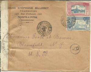 Guadeloupe Sc#119,#127 Point A PITRE 26/SEPT/40 commercial use WWII Censor