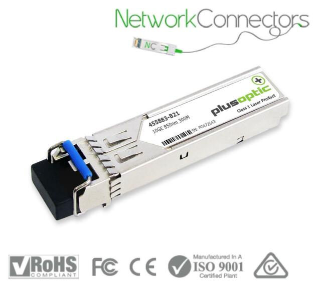 HP Compatible, 10.30Gbps, 850nm, 300m range, SFP+ Transceiver Module, with DDMI