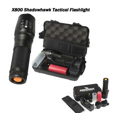 G700 6000lm Genuine SHADOWHAWK X800 Tactical Flashlight LED Zoom Military Torch