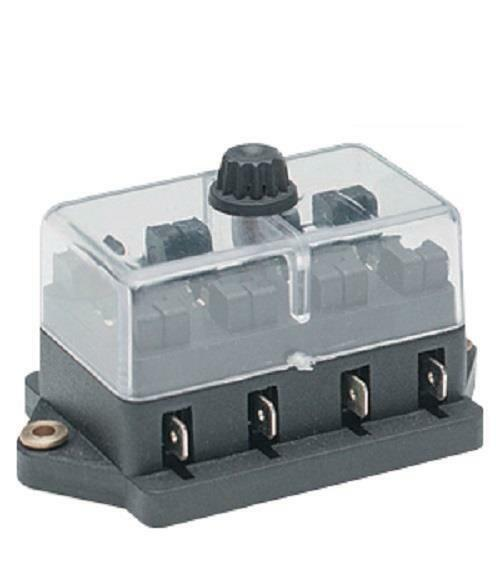 REPLACEMENT 4 WAY ATO BLADE FUSE BOX HOLDER WITH COVER 12 VOLT 24 VOLT K324
