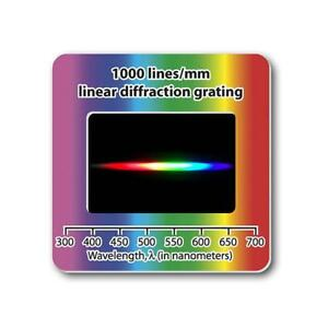 4x-Linear-Diffraction-Grating-Slide-Holographic-1000-lines-mm-Free-Shipping