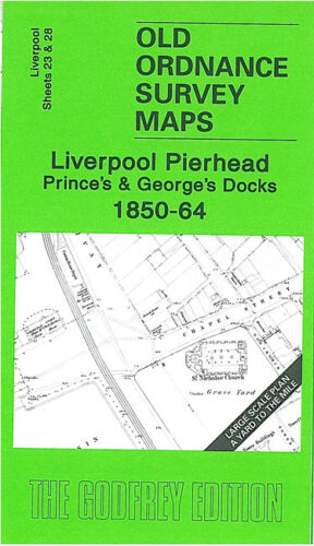 OLD ORDNANCE SURVEY MAP LIVERPOOL PIERHEAD PRINCE/'S /& GEORGE/'S DOCKS 1850-64