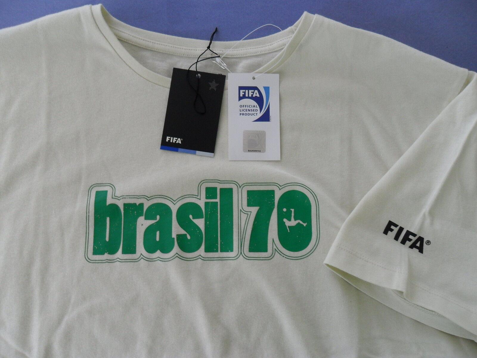 FIFA MEXICO 1970 WORLD CUP BRASIL Brazil Football Futebol Soccer Futbol ShirtXL