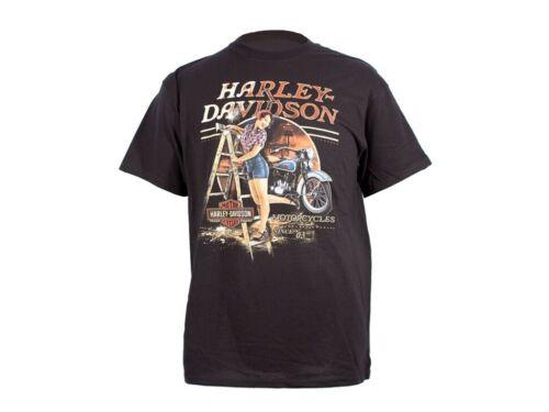 Harley-Davidson Men/'s Own the Black Dealer T-shirt PRESTON ENGLAND