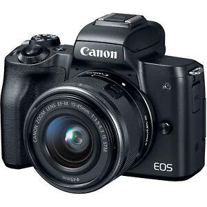 Nuevo Canon EOS M50 15-45mm IS STM lens - Black Negro