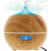 Essential Oil Diffuser Bluetooth Clock Air Aroma Mist Theapy Ultrasonic Purifier