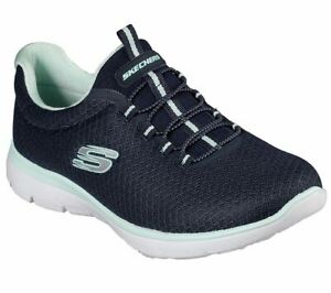 Skechers-Summits-Donna-Navy-Memoria-Schiuma-SPORTS-Palestra-Sportive-Slip-On