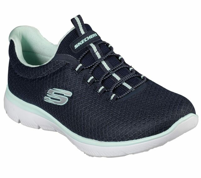 Summits Sneaker Navy Aqua Size 7.0 76ga