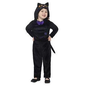 kleinkind s schwarze katze halloween overall kost m. Black Bedroom Furniture Sets. Home Design Ideas