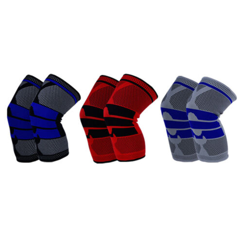 Silicone Sports Knee Pads For Running Basketball Knee Support Sleeve Brace