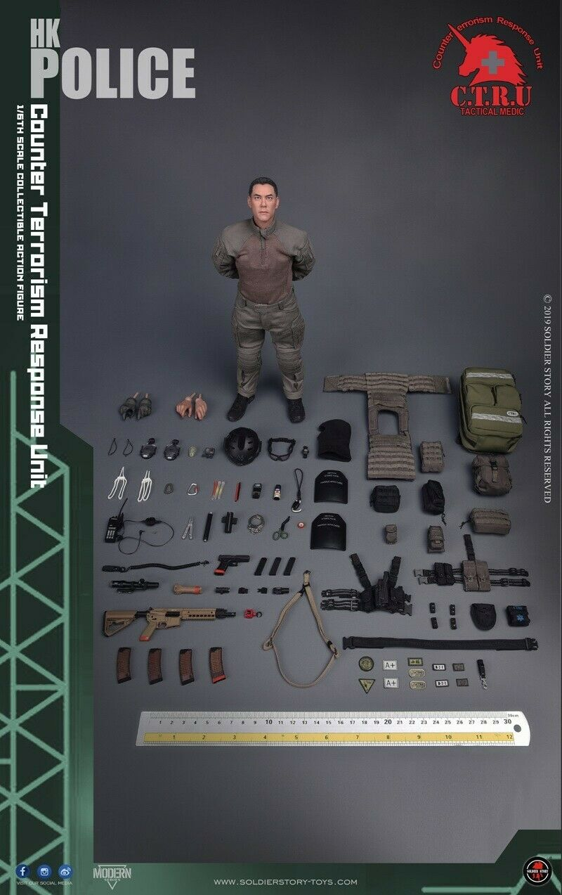 Soldier Story 1 6 SS116 HK Police CTRU Tactical Medic Xiao Zhang Action Figures