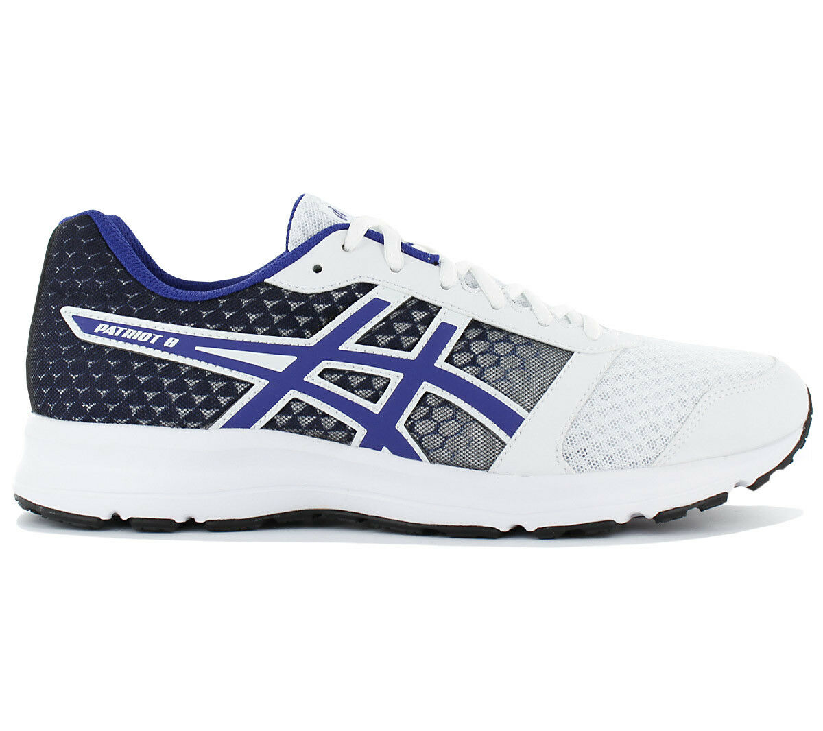 Asics Patriot 8 Mens Running shoes White Running Jogging Sport shoes t619n-0145