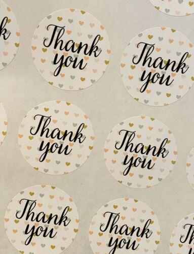 120 vous remercie pour votre commande Small Business//étiquettes//autocollants//affranchissement 40 mm round