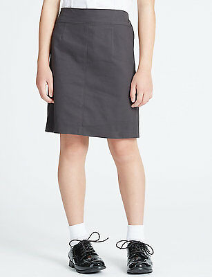 GIRLS STRAIGHT SCHOOL SKIRT UNIFORM  BNWT  BLACK NAVY GREY BROWN AGE 5-13