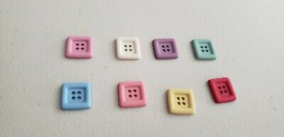 """Buttons new 7//8/"""" CHUNKY PRIMARY SQUARES #17 10"""