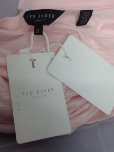 Ted Baker London Women/'s Tinah Dusty Pink Crew Neck Slub Tee Top Blouse Size 4