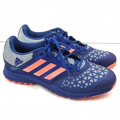 ec153b53a3fc ADIDAS Zone Dox Hockey Shoe Blue Orange Cleats AQ6520 SZ 11