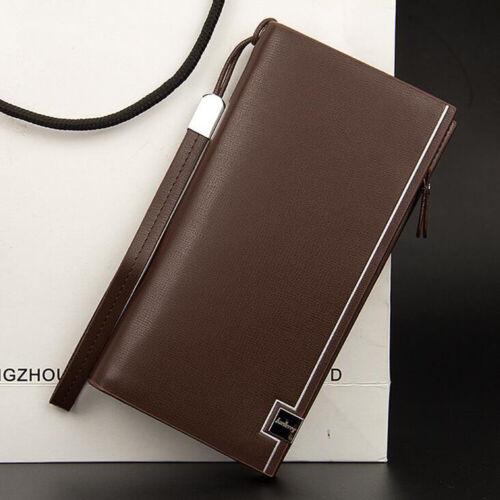 Men Long Wallet Leather Zipper ID Credit Card Holder Money Purse Clutch Handbag