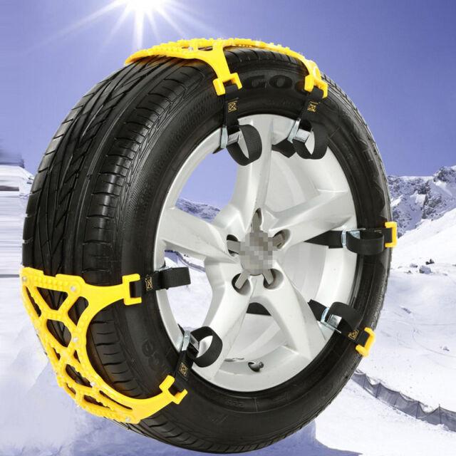 Car Vehicle Truck SUV Safe Snow Tire Wheel Chain Anti-skid Belt Universal Yellow