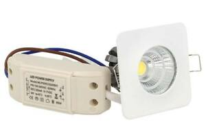 Lampada Mini Faretto Led Da Incasso Da Soffitto Cob 3W Bianco Caldo Quadrato For