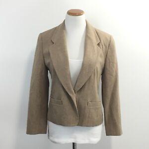 Petite 8p completamente foderata Giacca Womens lana in vergine Pendleton Sz 7d44q