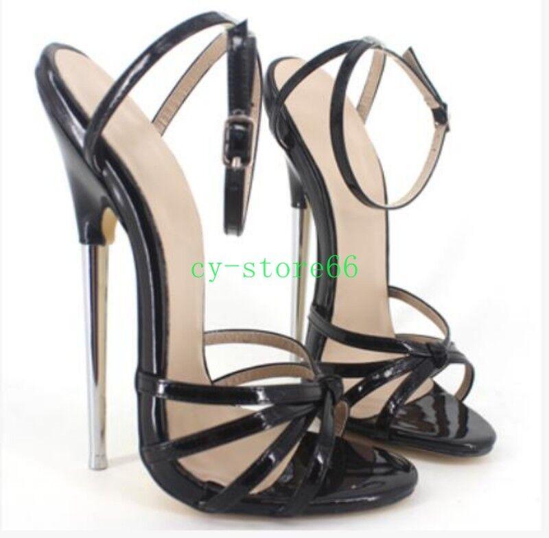 Sexy Womens Open Open Open Toe Metal High Heel Stilettos Clubwear shoes Ankle Strap Sandal 7dcbbe