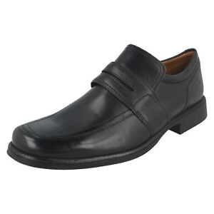 Work Mens Slip Cushioning Ankle Shoes On Clarks Formal Black Leather Huckley zrZqz