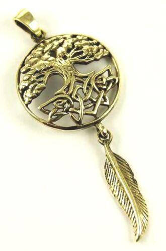 Bronze Pendant Dream Catcher Tree of Life Or Spiders Webb LISA PARKER Halloween
