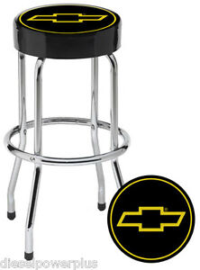 Chevy Chevrolet Bow Tie Bar Stool Chair Shop Work Bench