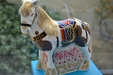 "Royal Crown Derby Paperweight ""WAR HORSE"" L Ed 500 100th Anniversary World War 1"