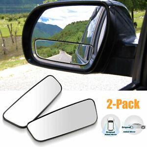 2x-Adjustable-Stick-On-Rear-View-Auxiliary-Blind-Spot-Mirror-Wide-Angle-for-Car