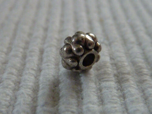 Spacer rondell perla plata entre perla decorado metal 6 mm selección 1273