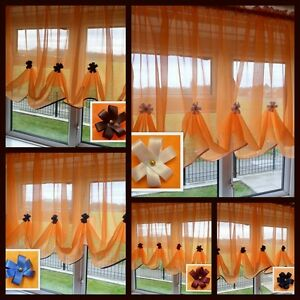 Beautiful-Orange-Voile-Net-Curtain-with-Various-Colours-Piping