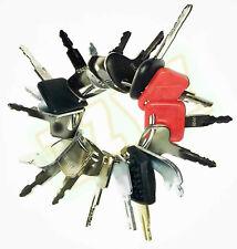 18 Keys Heavy Equipment Construction Ignition Key Set For Komatsu Case Bobcat